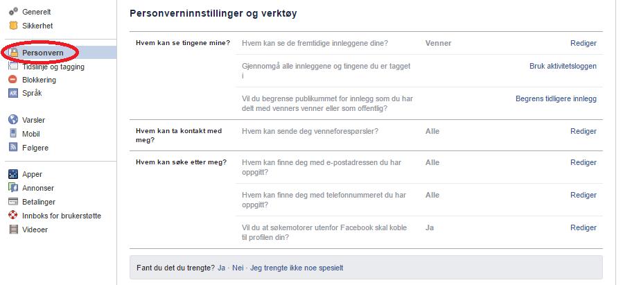 fjerne venner på facebook trondheim